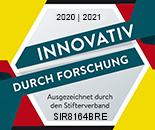Stifterverband Auszeichnung für SiChem für F&E 2021